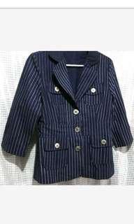 🚚 寶藍色直條外套