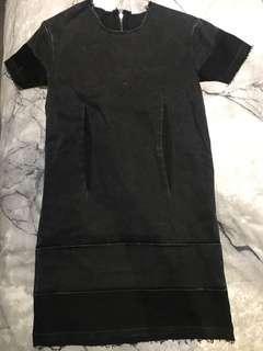 BRAND NEW Cheap Monday Grey Stonewashed Denim Cutoff Dress - Size XXS/4-6