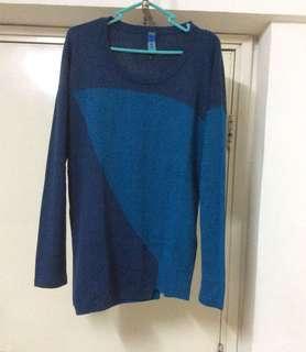 不規則長款冷衫冷衫Size:L碼
