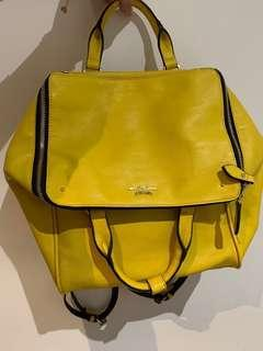 Samantha Thavasa Japanese Designer Yellow 2-in-1 Tote Bag Backpack - Great Condition