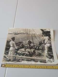 Post War Singapore Turbulence Times. Original B&W Photo.