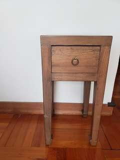 Antique wood side table