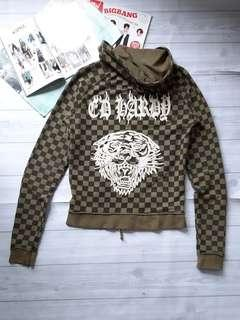 ED HARDY Checkered Hoodie Jacket
