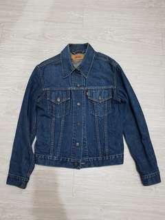 🚚 古著/復古Levi's牛仔夾克/外套(70500)-M號