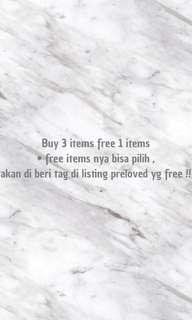 PROMO BUY 3 free 1
