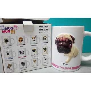 【全新絕版】立體凸出 7-11 mug mug 斟 八哥犬狗 Pug Dog Coffee Tea Cup 水杯咖啡杯