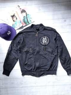 Blac Label Premium Product Studded Jacket Jaket Hitam belel