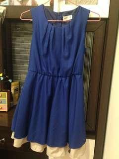 🚚 正韓寶藍色洋裝