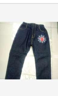 大童內刷毛牛仔長褲