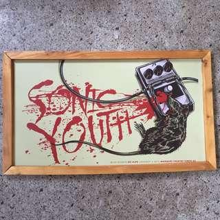 SONIC YOUTH poster / frame