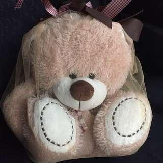 [New] Teddy Bear (wrapped with organza & ribbon)
