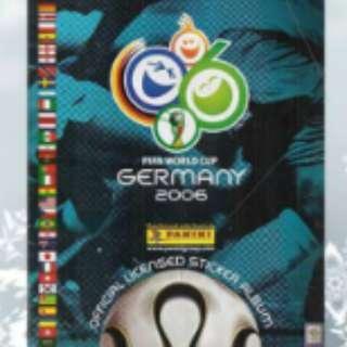Panini 2006及2010世界盃集圖冊 齊貼紙