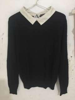 sweater hitam