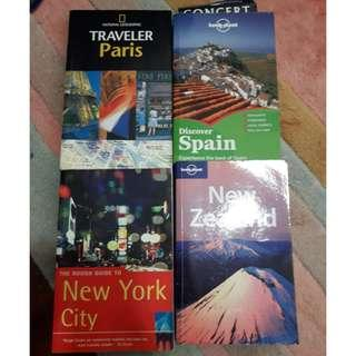 【4本共$10】舊版 National Geographic Lonely Planet Paris New York City NYC New Zealand Spain 紐約新西蘭巴黎西班牙