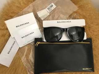 New Authentic Balenciaga BA0028 Oversized Designer Sunglasses