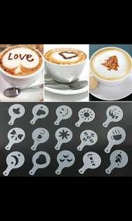 Coffee Tea Drinks Stencils and Creative Barista!