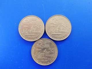 Singapore 1990 25th Anniversary $5 Coin