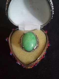 Jade with ring attached