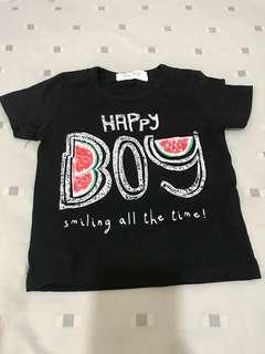 #MFEB20 Happy Boy Black Tshirt