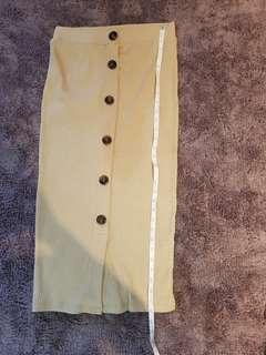 Zara button down skirt
