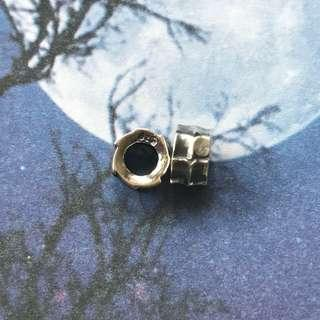 Navajo vintage silver beads one piece 銀珠 結尾珠 隔珠 1粒