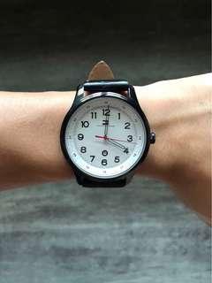 Tommy Hilfiger Black Leather Watch