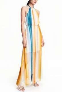 H&M Rainbow Maxi Dress