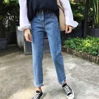 中腰 直腳牛仔褲