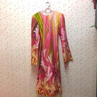 Batik kurung moden pink jakel #MFEB20