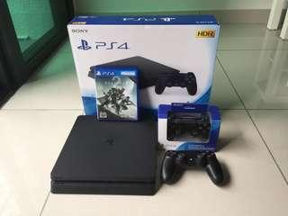 PS4 SLIM 500 GB & 2 CONTROLLER. WARRANTY UNTIL 2021 by Sony Malaysia