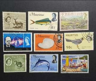 🚚 Mauritius vintage stamps Commonwealth QE2