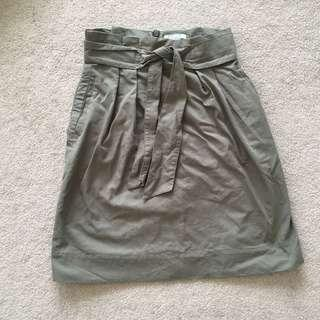 H&M Army Green Skirt