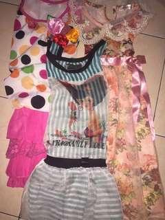Bundling 3 pcs baju ultah/pesta anak perempuan