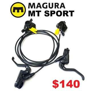Magura MT Sport 2019 Hydraulic Disc Brake Pair--------------------(MT2 MT4 MT5 M5e MT6 MT7 MT8 MT 1893 MT Trail SPORT CARBON M9120 M8020 M8000 M7000 M315 TITANIUM NUT SCREW BOLT)