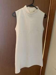 Asos white neoprene shift dress