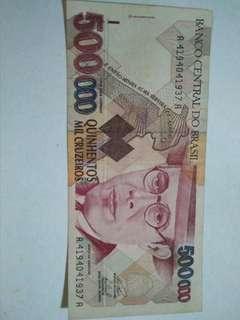 Brazil 500,000 Cruzeiros (P239b) ND (1993)