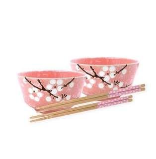 BN 2 Sakura bowl & 2 chopsticks