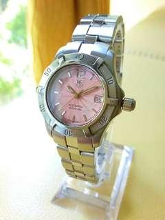 Tag Heuer Pink Dial Automatic Silver Steel Ladies