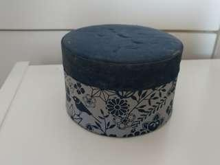 Blue Satin Box 藍色丁布圓盒
