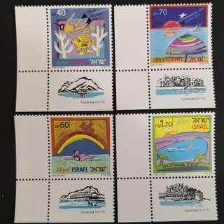 🚚 Israel 1989. Tourism complete stamp set