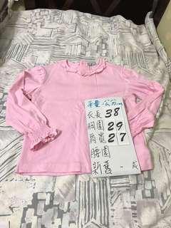🚚 法國品牌 粉紅小公主內搭上衣 100Cm
