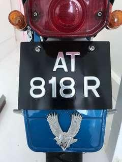 Motorcycle plate number for sale