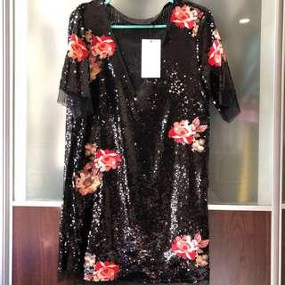 Authentic Zara Sequin Dress