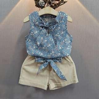 Floral Blouse + Shorts