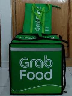 Grabfood Big Thermal Bag & Halal Food Bag