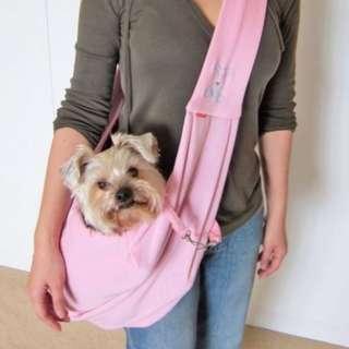 Alfie Pet Dog Cat Travel Shoulder Bag Pet Sling Carrier, Pink Gray