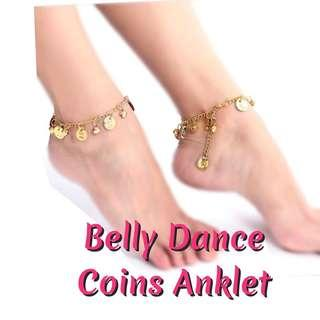 Belly Dance Coins Anklet. One Pair / 2pcs