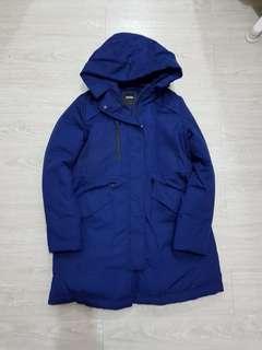 🚚 BRAPPERS 藍色長版羽絨外套大衣- M號