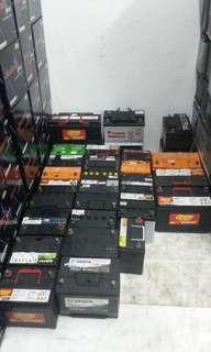2nd battery still in good conditions selling price starting from rm50 depend on size battery.