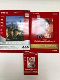 Canon Photo Papers